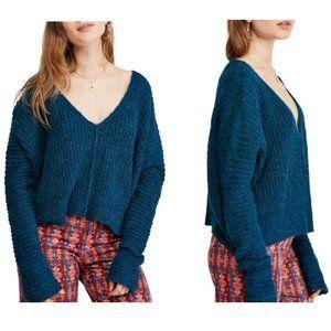 FREE PEOPLE Moonbeam V-Neck Alpaca Sweater NWT